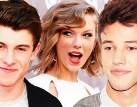 Shawn Mendes, Taylor Swift and Cameron Dallas.