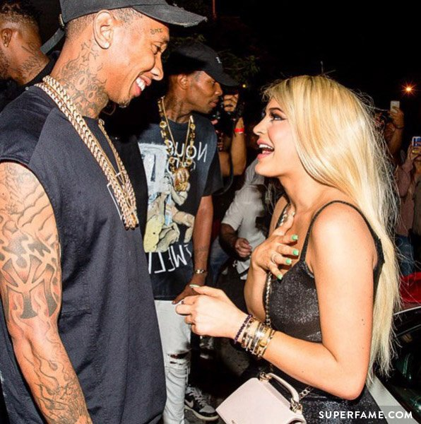 Kylie Jenner talks to Tyga.