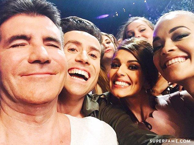 Simon Cowell, Nick Grimshaw, Cheryl Fernandez-Versini and Rita Ora.