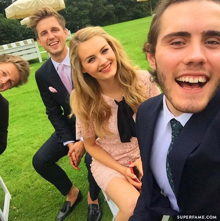 Alfie, Niomi, Marcus and Caspar at the wedding.