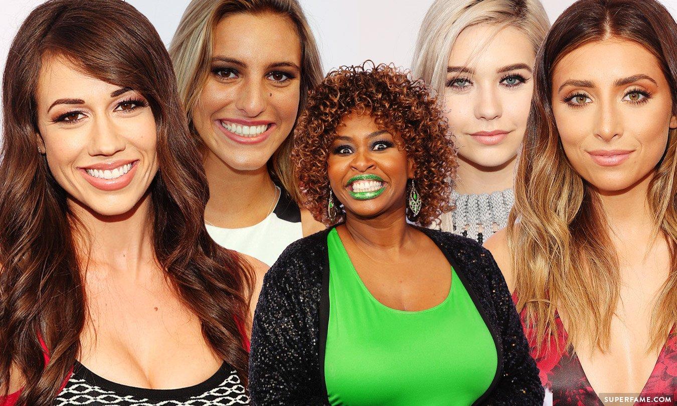 Colleen Ballinger, Lele Pons, GloZell Green, Amanda Steele, Lauren Elizabeth.