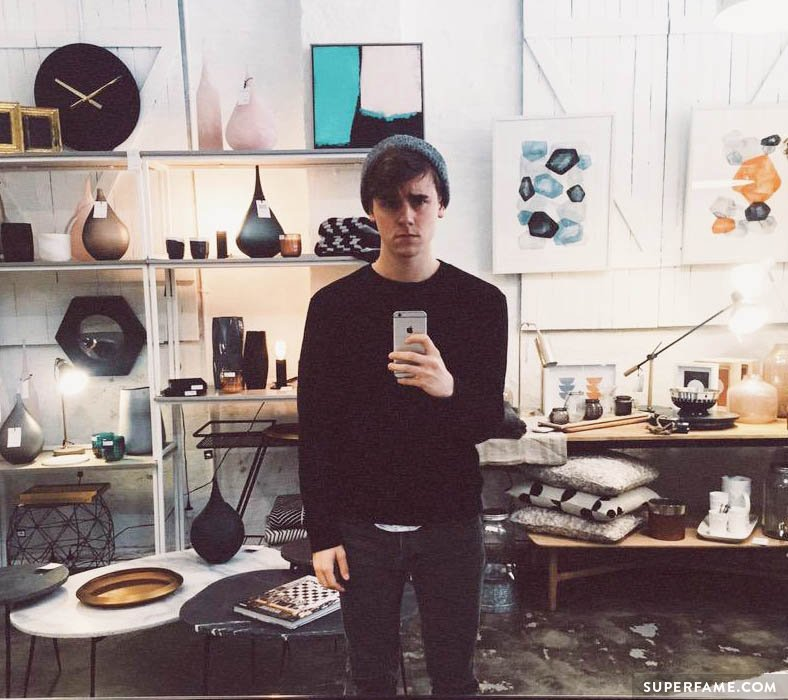 Connor Franta takes a selfie.