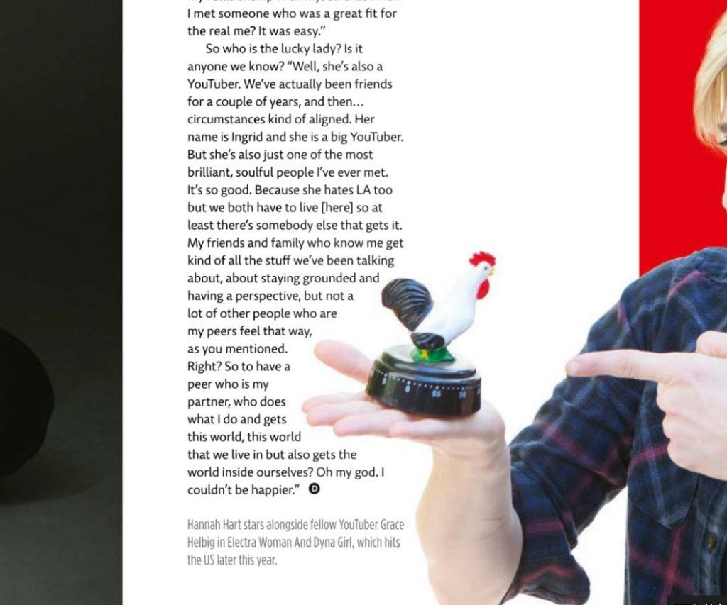 DIVA Magazine scan (Hannah & Ingrid)