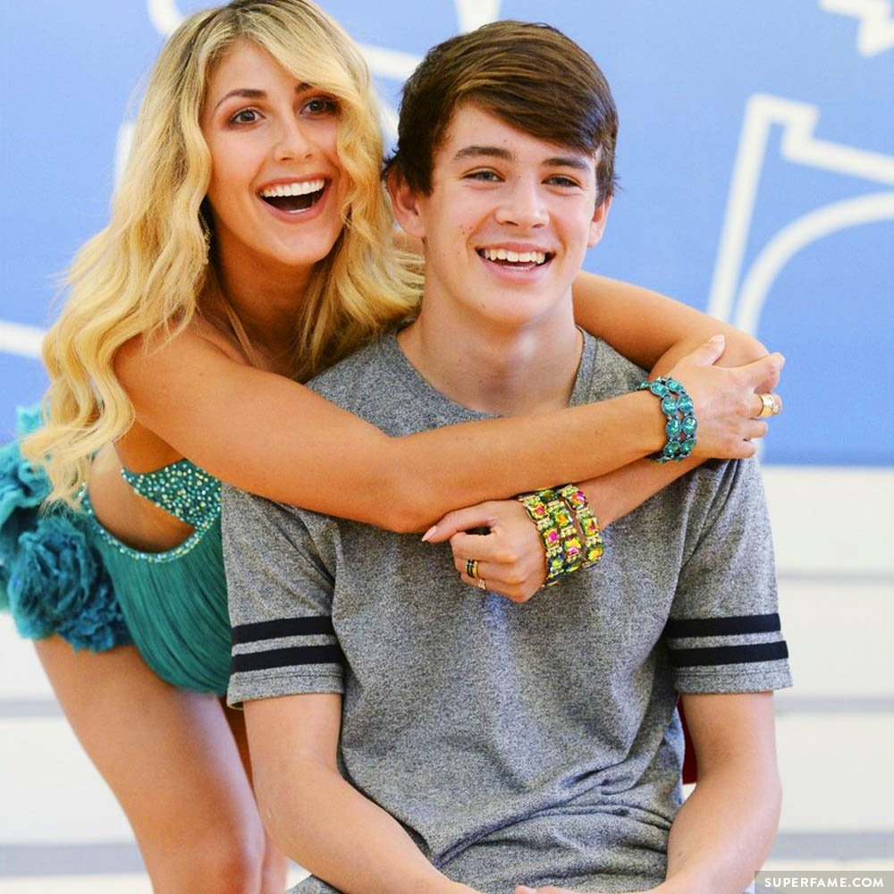 Hayes and Emma dance.