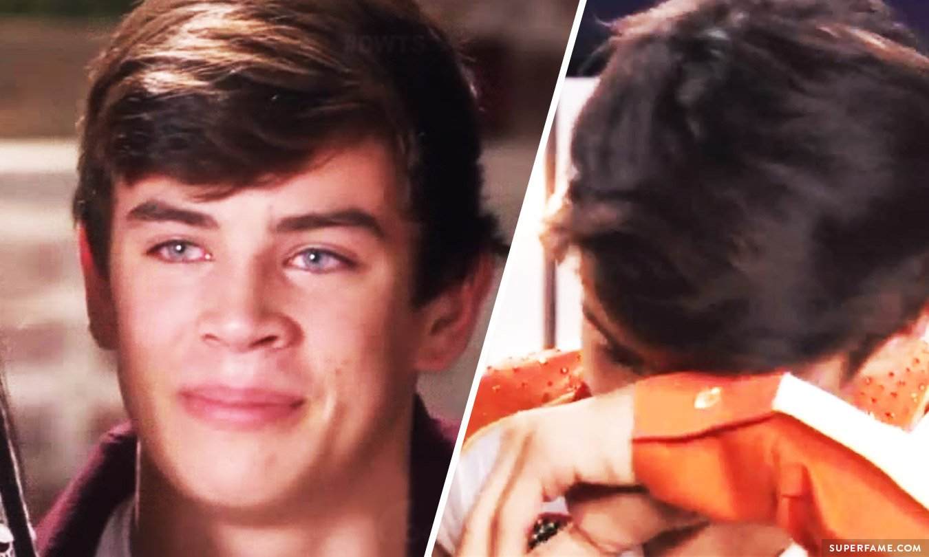 Hayes Grier cries.