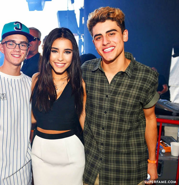 Madison Beer with boyfriend Jack Gilinsky, and