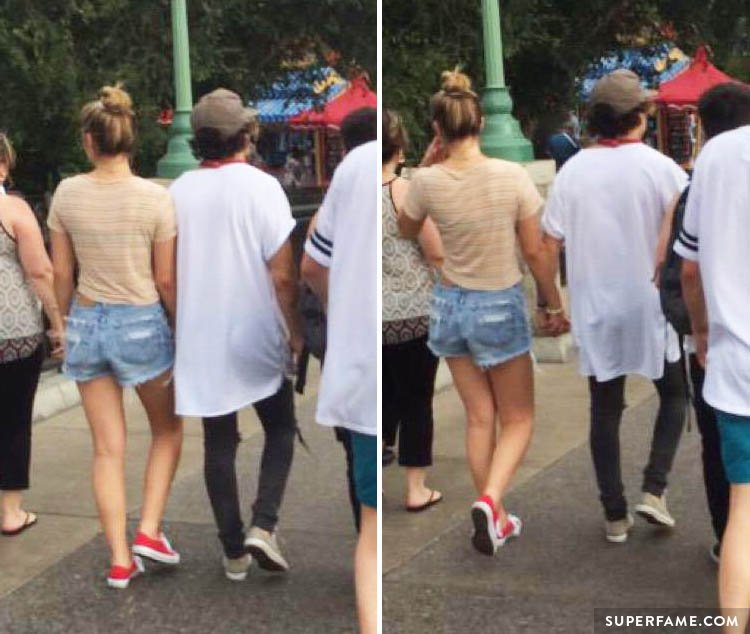 JC and Lia holding hands.