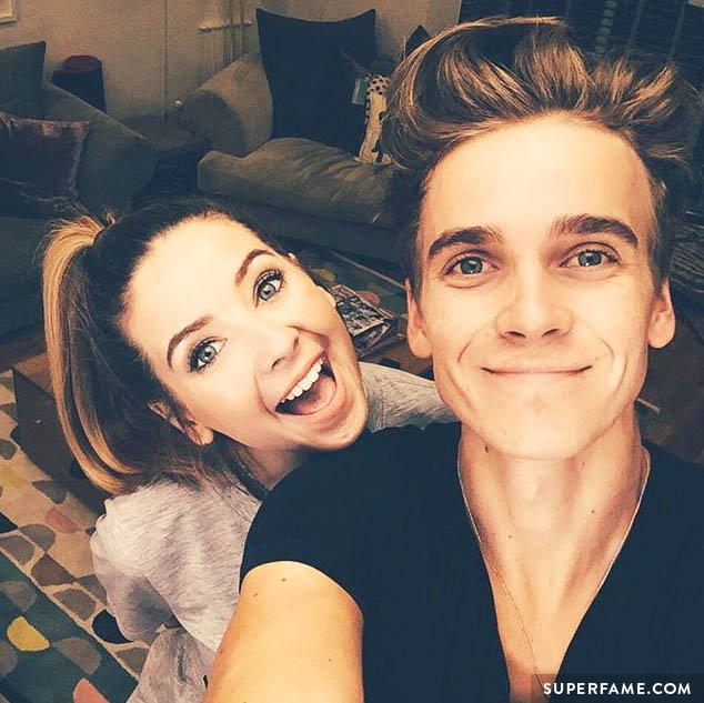 Joe Sugg and sister Zoella.
