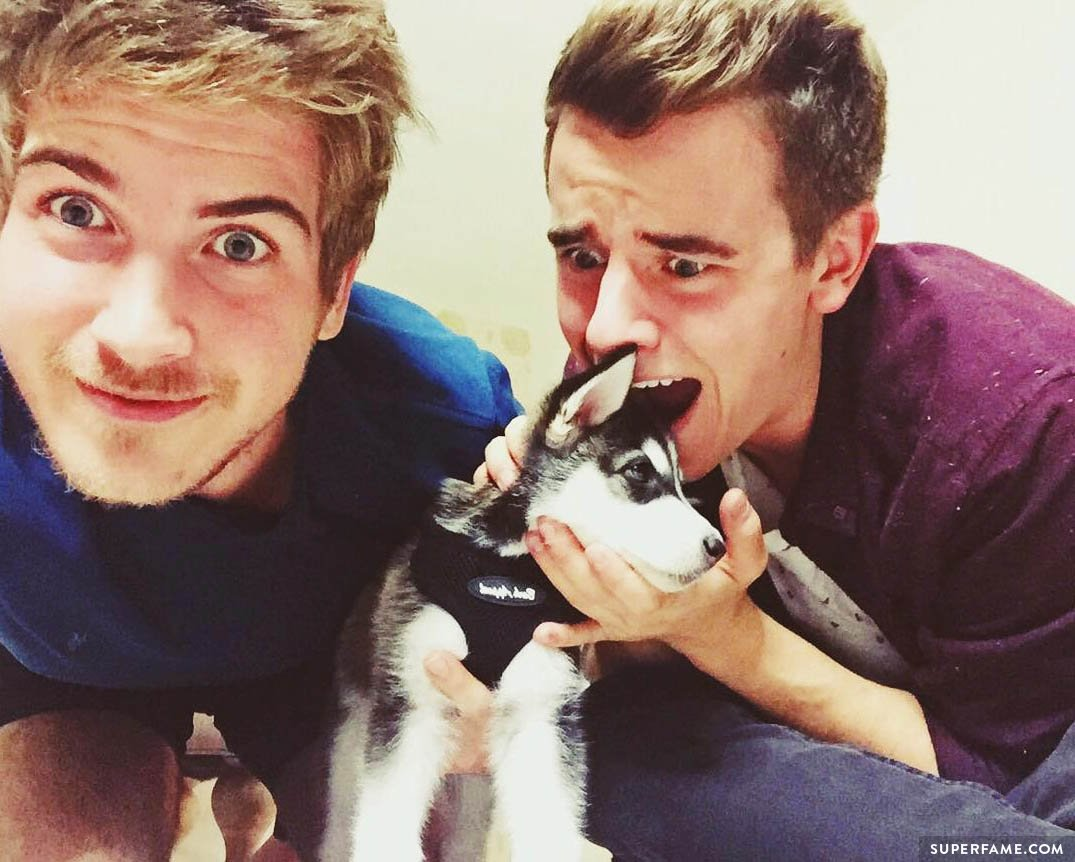 Connor Franta, Joey Graceffa and Wolf.