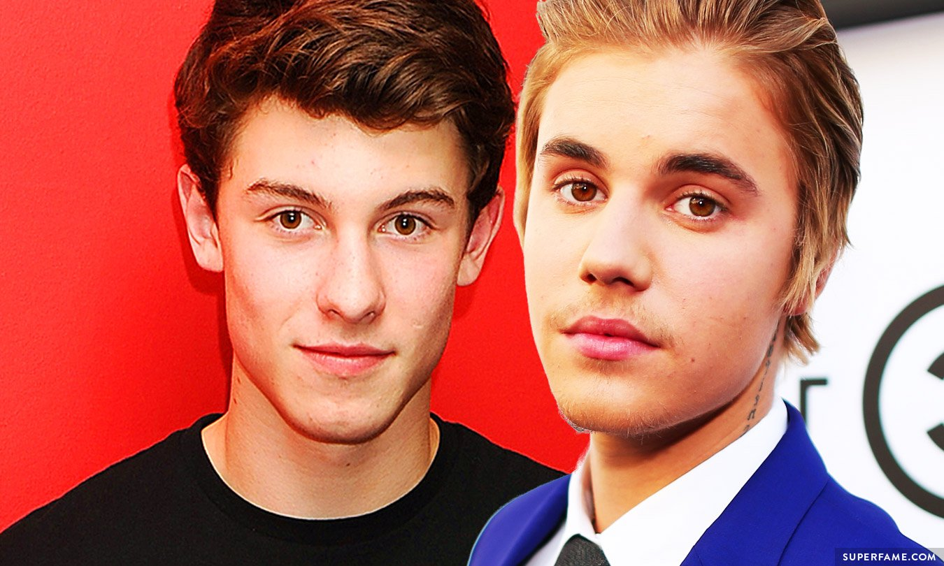 Shawn Mendes and Justin Bieber together.