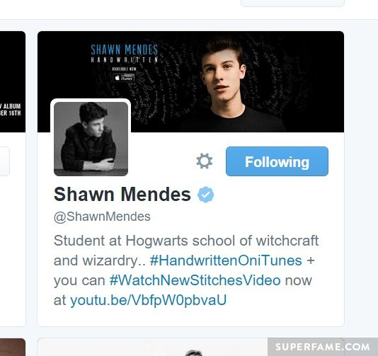 Justin is now following Shawn.