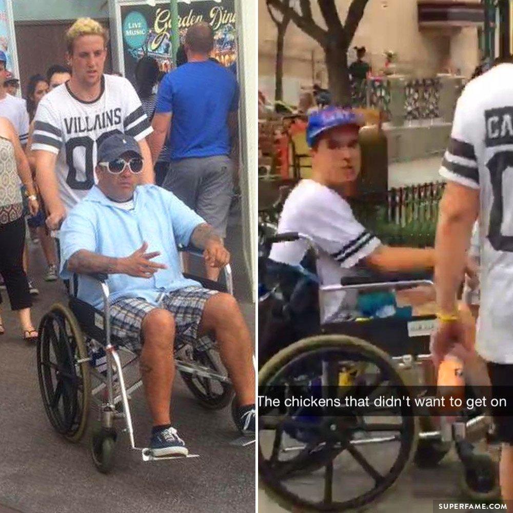 Kian Lawley at Disneyland.