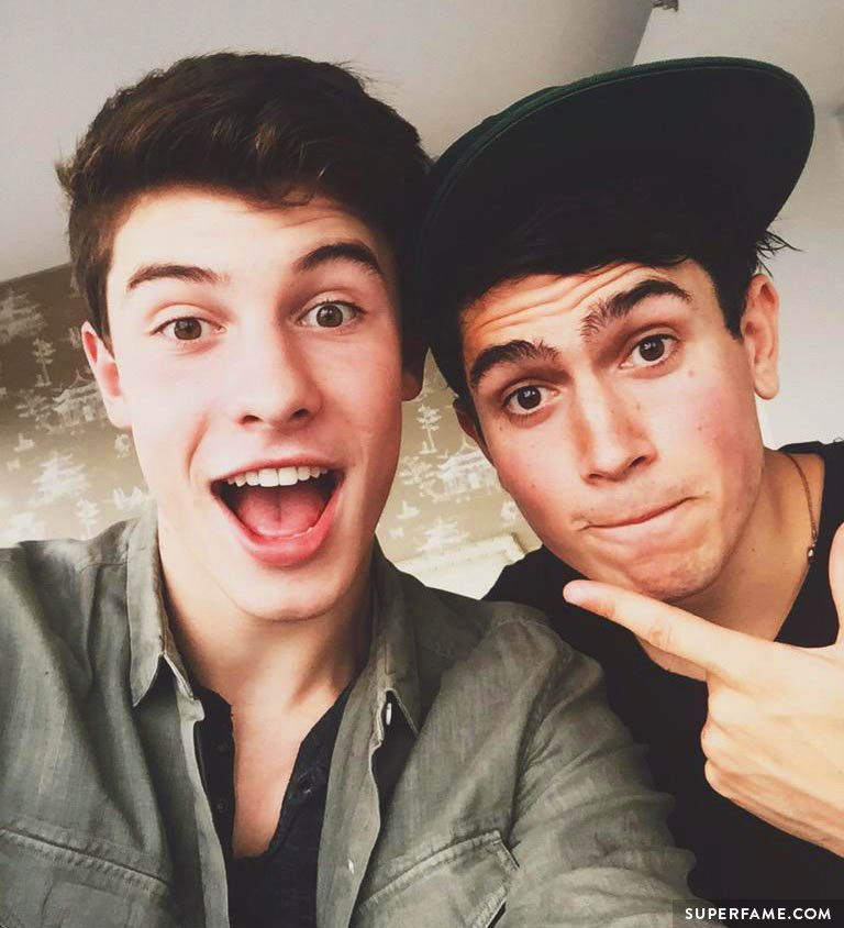 Luke Franks with Shawn Mendes.