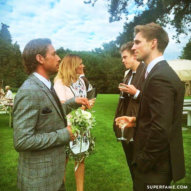 Marcus, Caspar in suits.