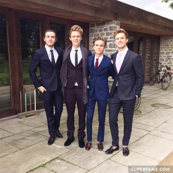 Marcus, Joe, Caspar and Alfie all suited up.