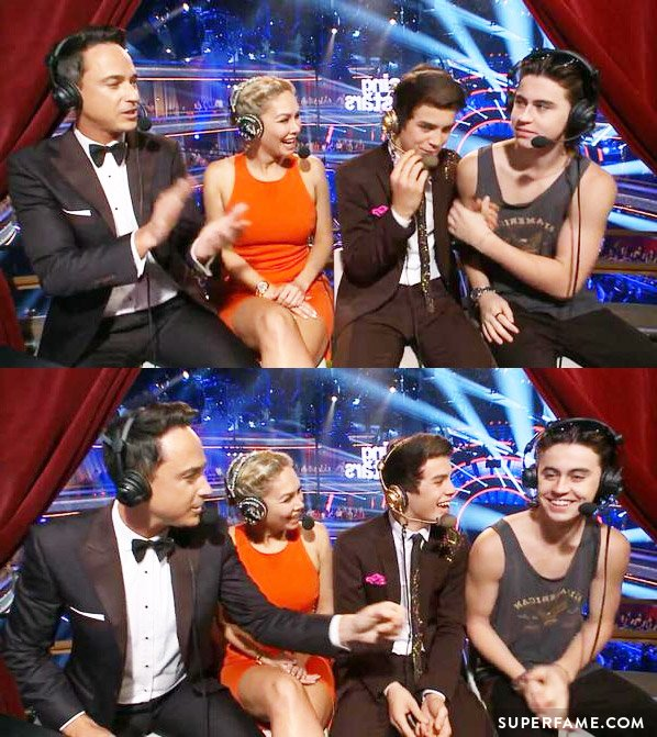 Nash supporting Hayes on Dancing with the Stars.