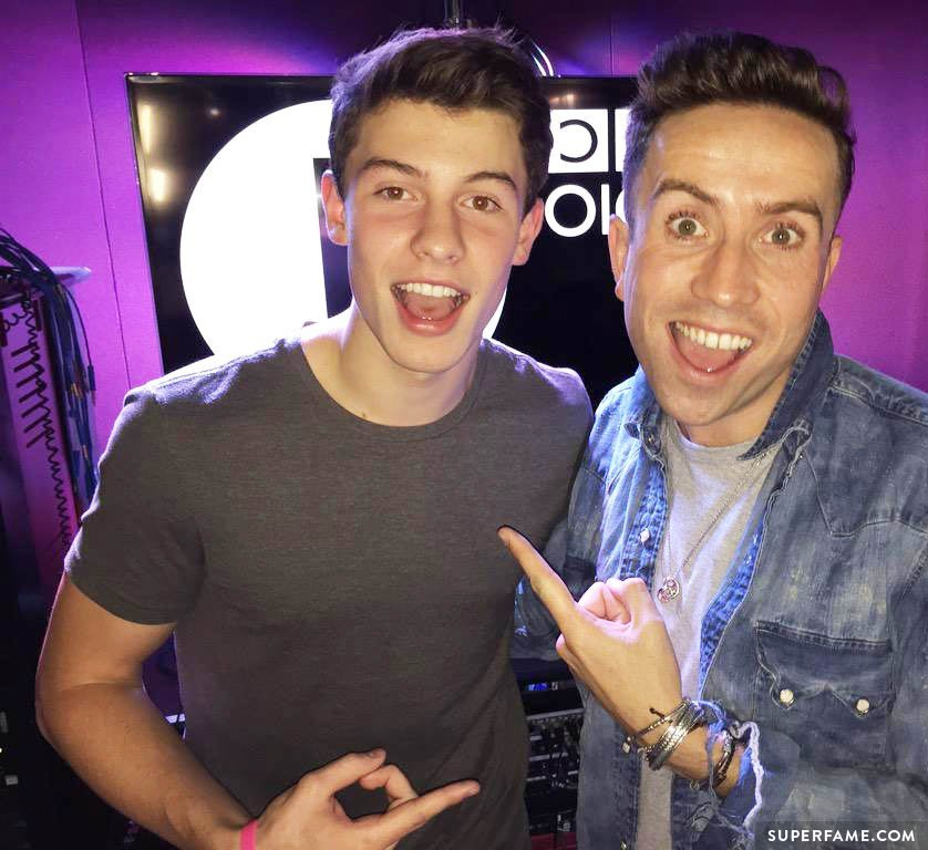 Nick Grimshaw with Shawn Mendes.