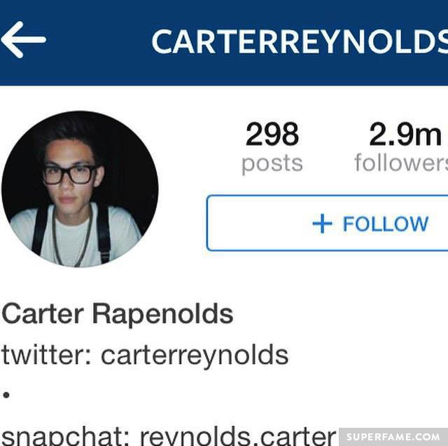 His name was changed to Carter Rapenolds.