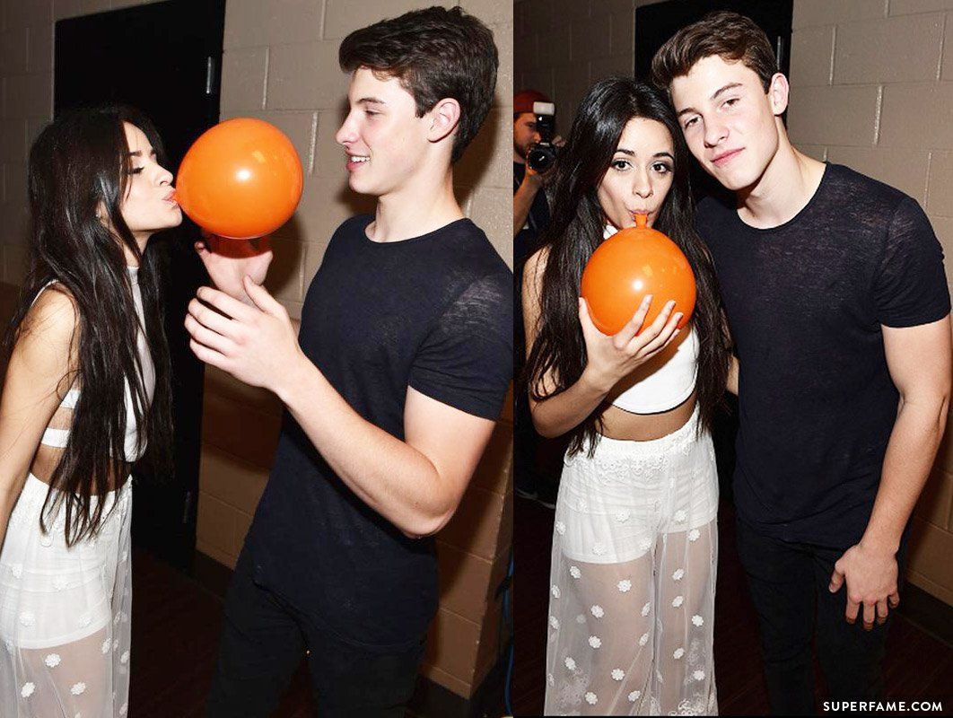 Camila and Shawn Mendes.