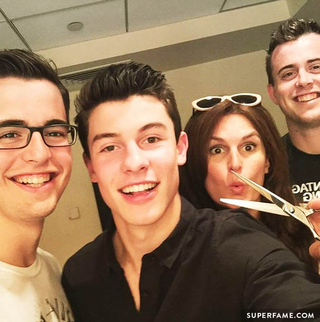 Shawn Mendes getting cut.