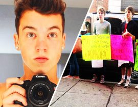 Taylor Caniff's protest / picket.