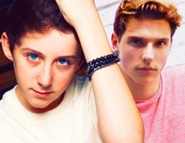 Trevor Moran with Jacob Reinhard.