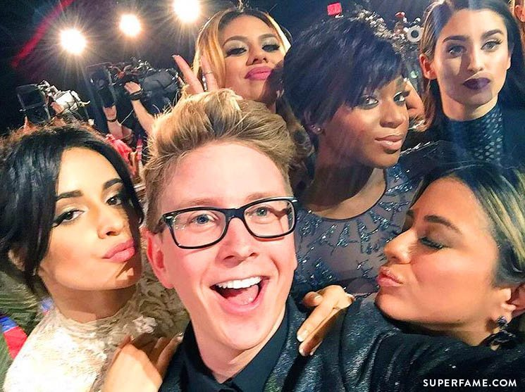 Tyler Oakley and Fifth Harmony.