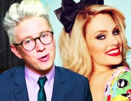 Tyler Oakley and Nicole Arbour.