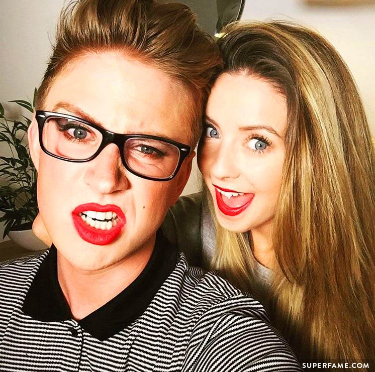 Tyler Oakley and Zoella.