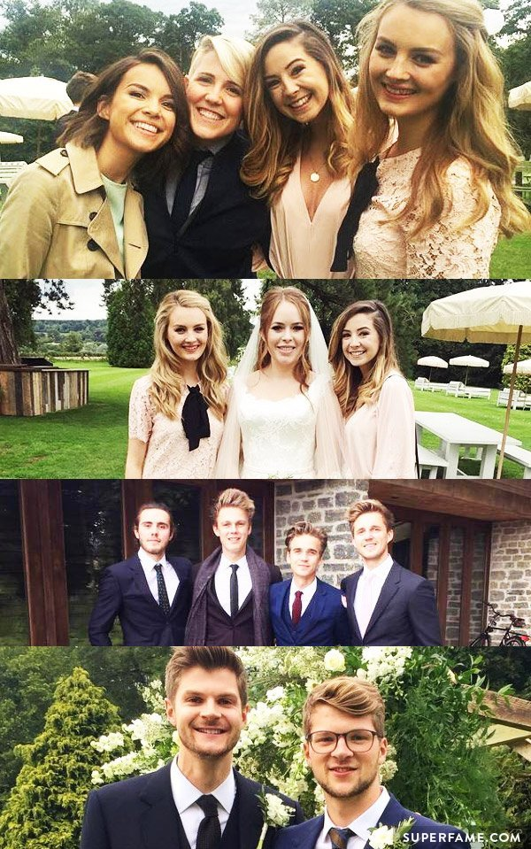 Some of the YouTubers that attended the Janya wedding. (Photo: Instagram)