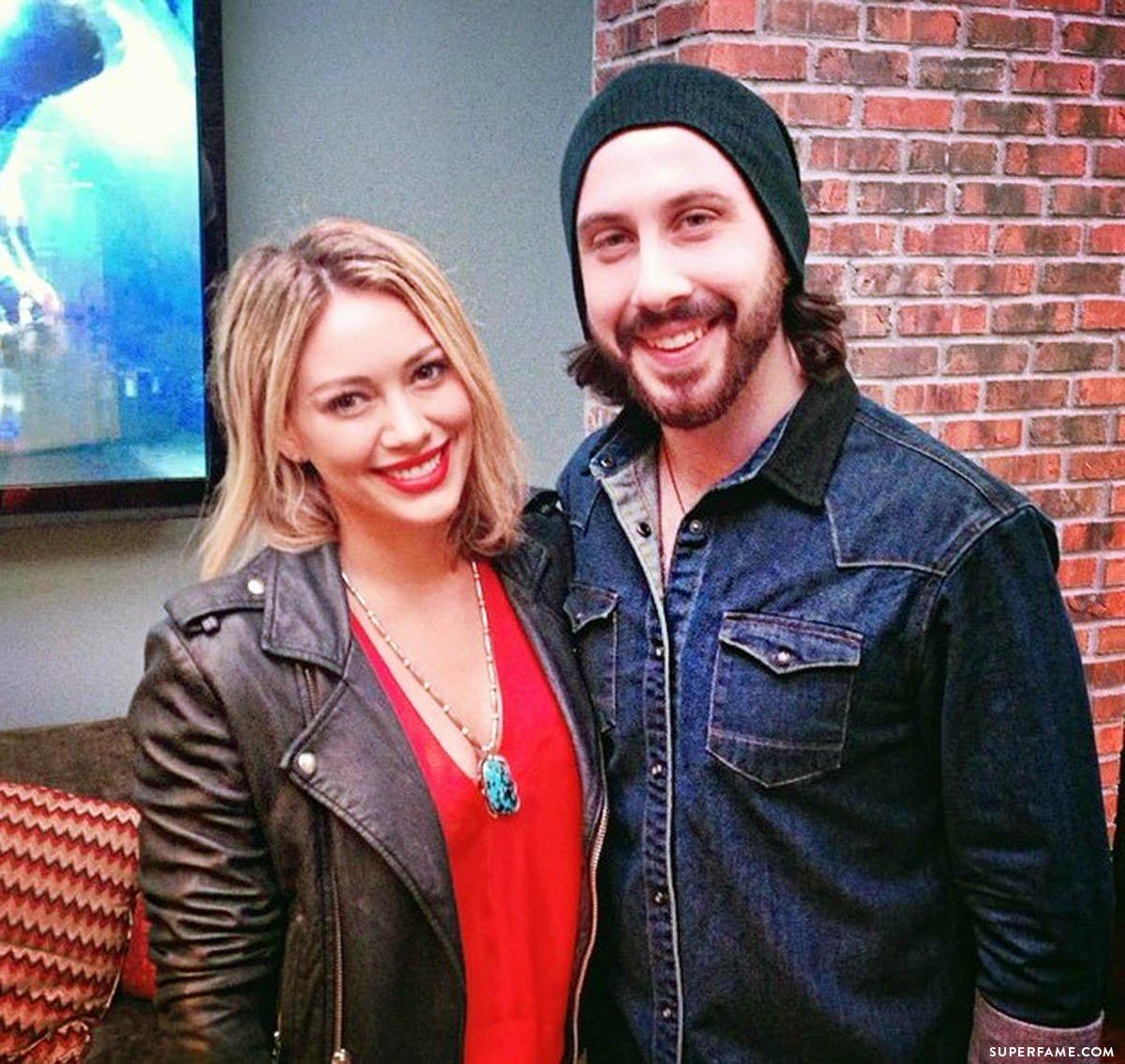 Avi Kaplan and Hilary Duff.