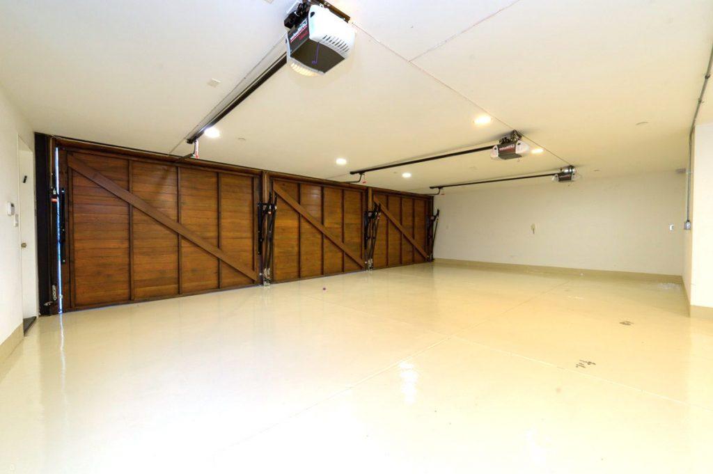 A three-car garage.