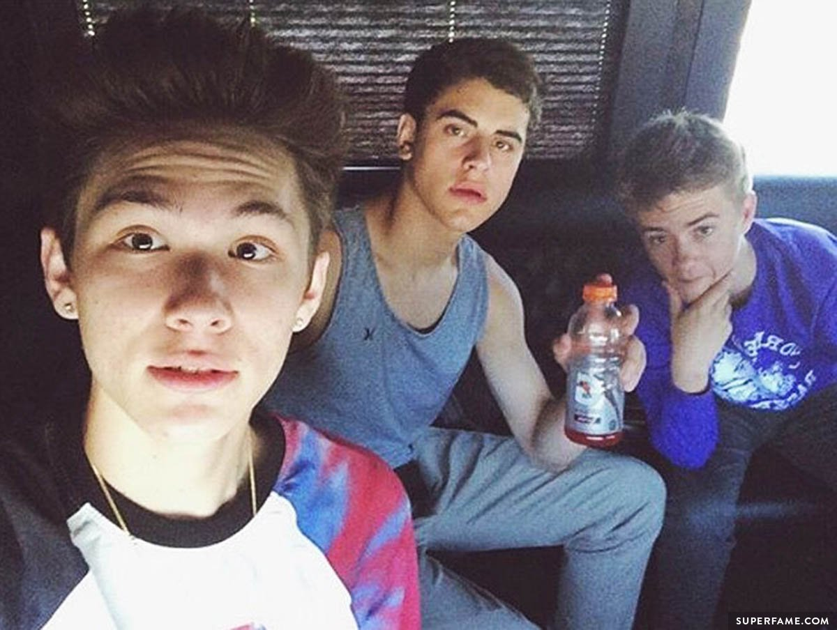 Carter with close friends Jack and Jack.