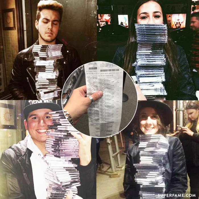 Bulk buying albums by Demi fans.