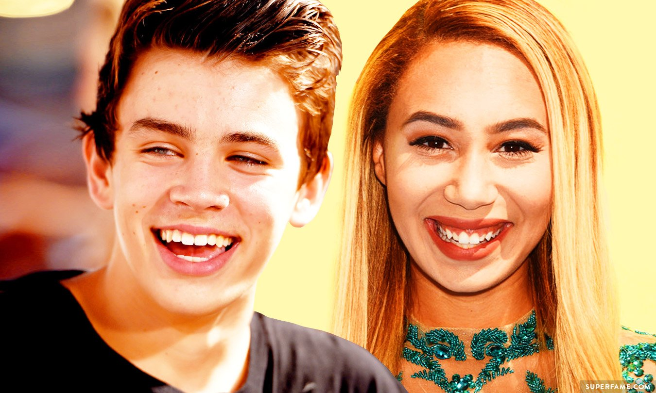 Eva Gutowski and Hayes Grier.