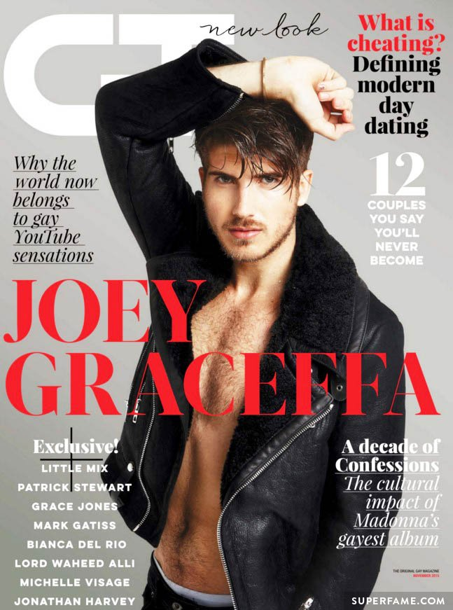 Joey Graceffa on the cover of Gay Times.