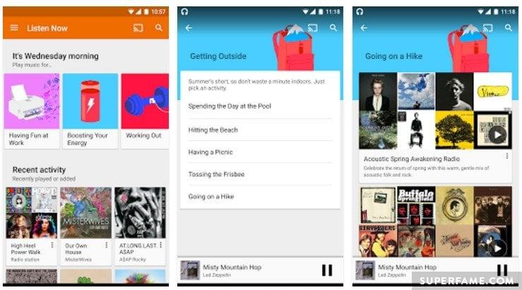 Google Play Music.