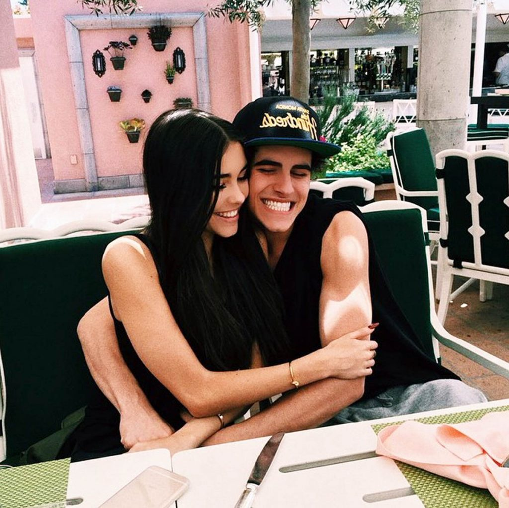 Jadison in love, hugging.