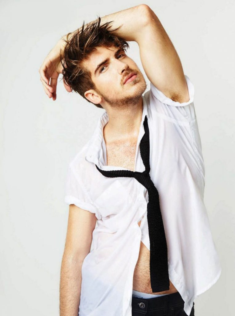 Joey Graceffa gets wet.