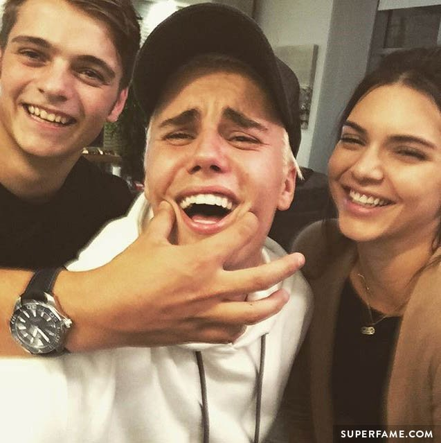 Justin with Kendall and Martin.