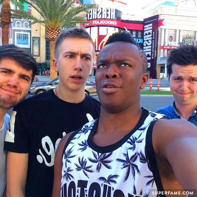 KSI with friends in Vegas.