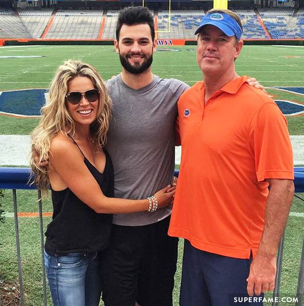Nila and Chad with Will Grier.