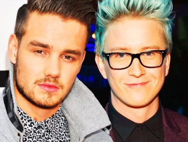 Tyler Oakley with One Direction.