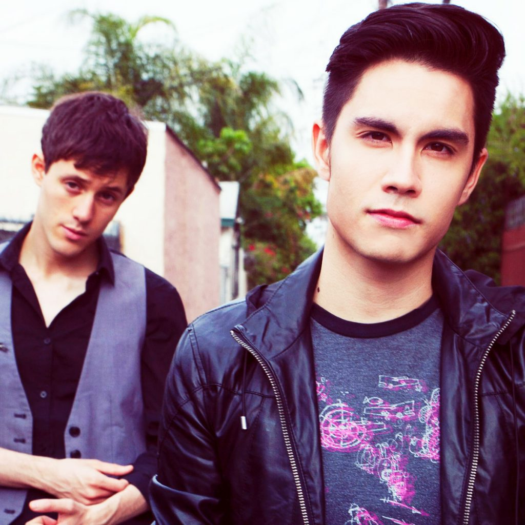 Sam Tsui with Yale friend Kurt Hugo Schneider.