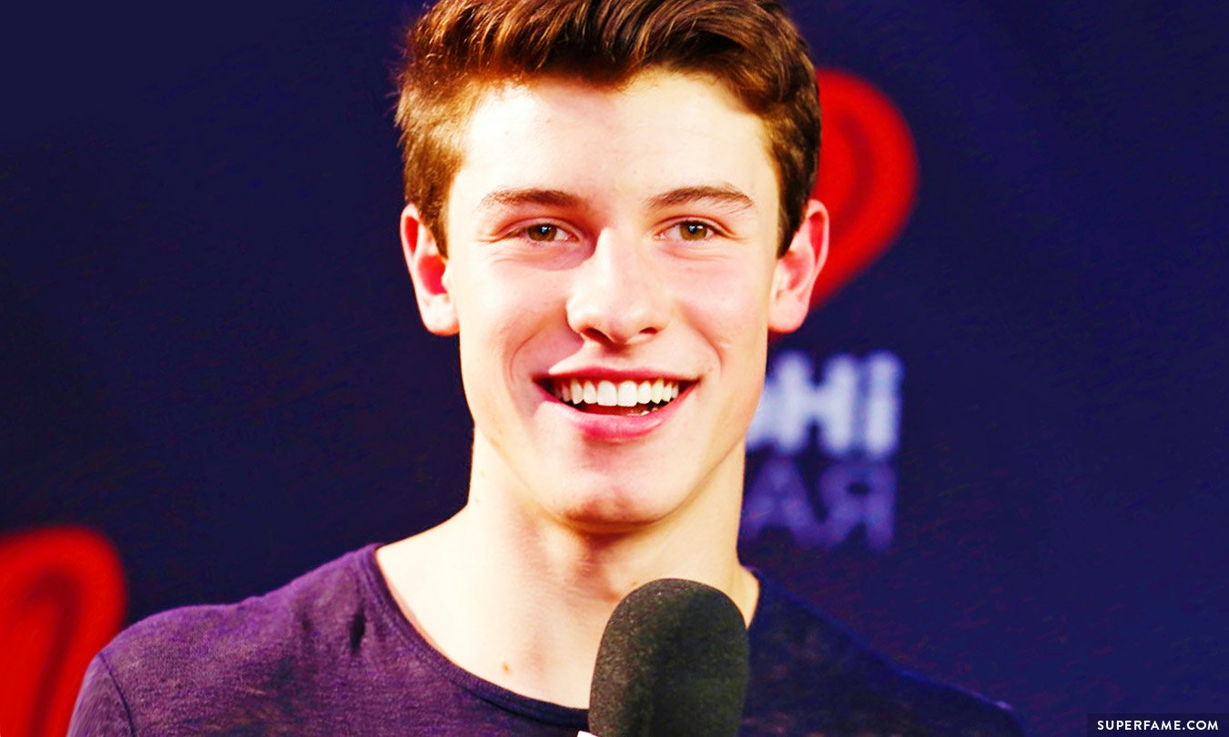 Shawn Mendes smiling.