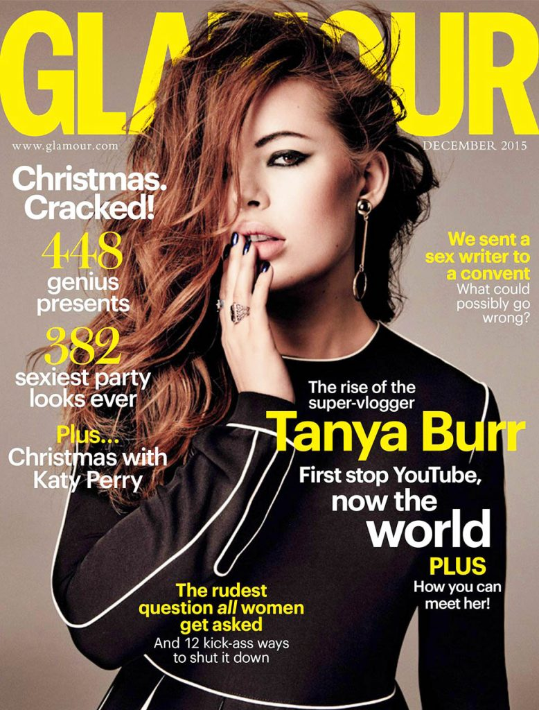 Tanya Burr covers Glamour.