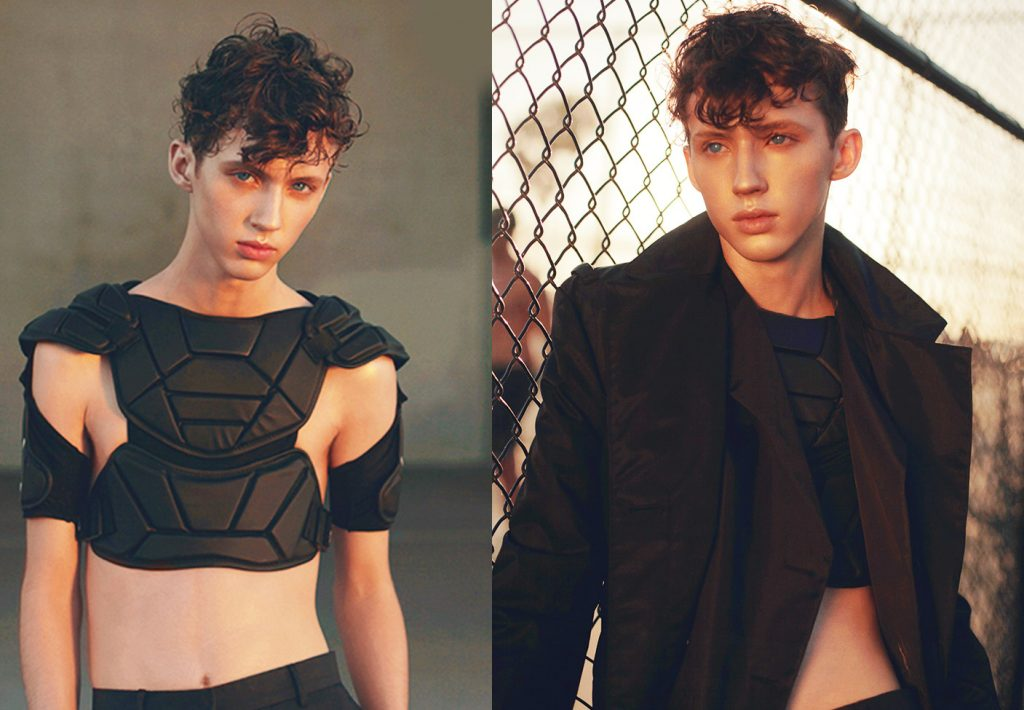 Troye Sivan bared his belly for OUT.