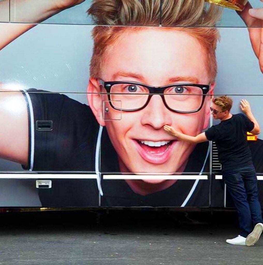 Tyler Oakley's billboard.