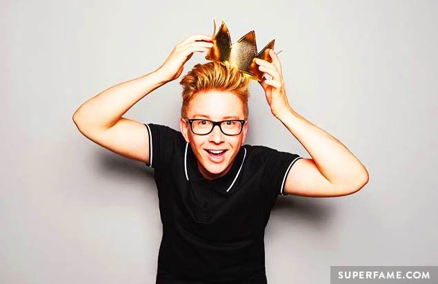 Tyler Oakley wears his crown.