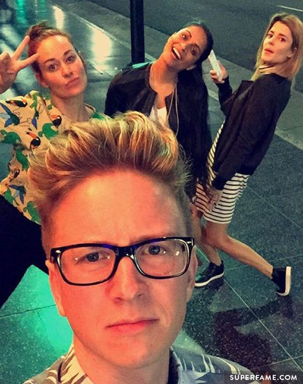 Tyler Oakley with friends.